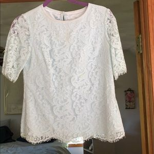 Lace half sleeve shirt from Ted Baker
